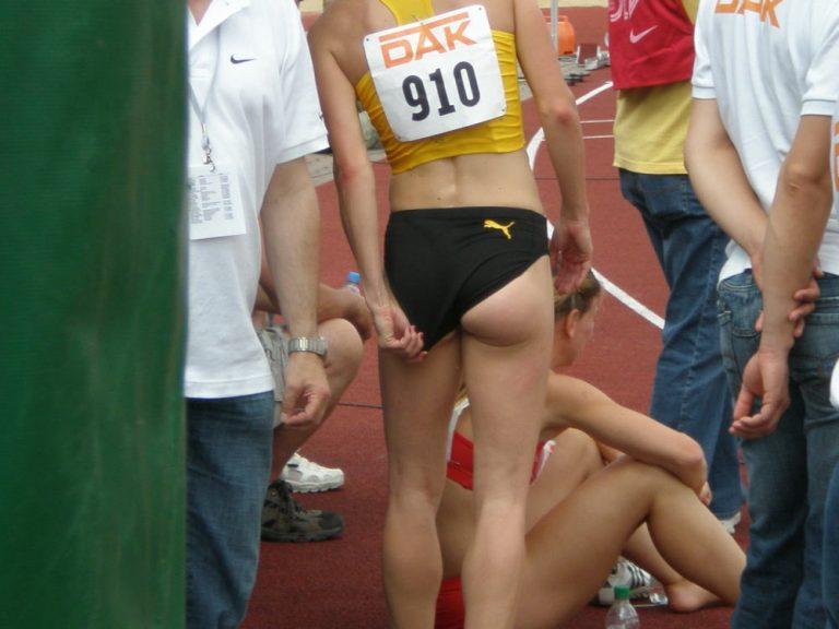女子陸上選手のユニフォームがエロいハミケツアスリート画像www