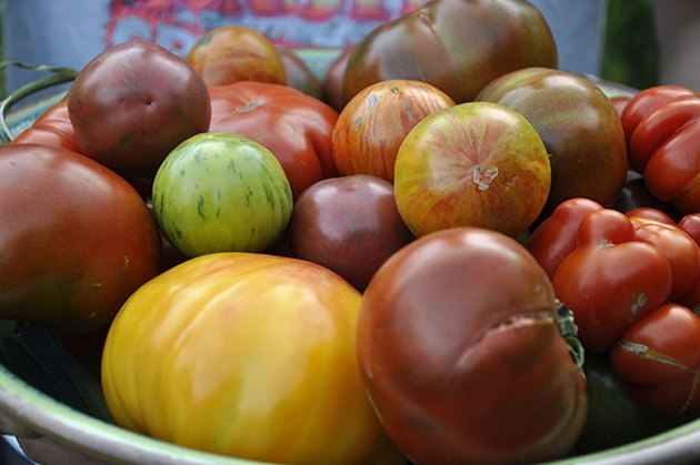 Colorful heirloom varieties of vegetables are high in antioxidants and more flavorful then store-bought varieties.