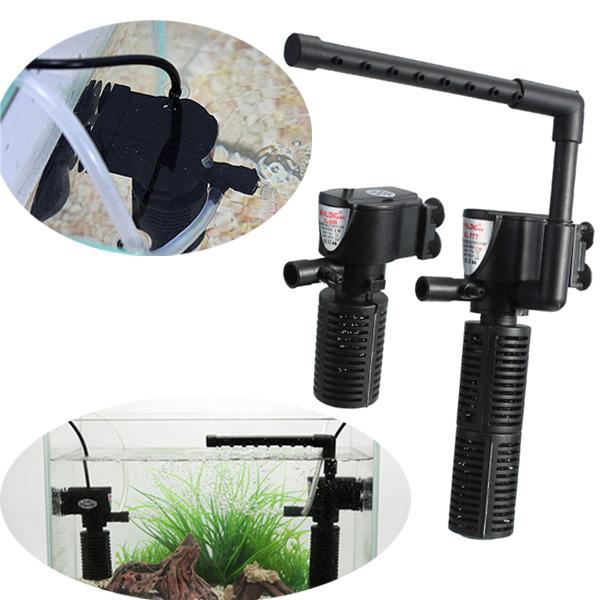 Pumps & Filters   3 In 1 Aquarium Fish Tank Sumbersible Filter Oxygen