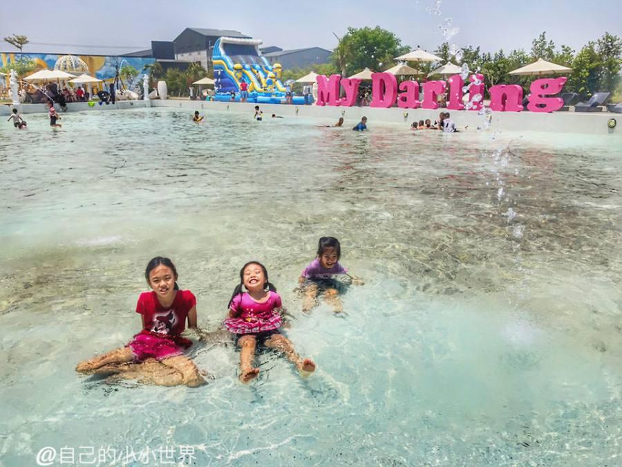 【嘉義】。夏天大人小孩玩水去!親子戲水池沙坑區@諾得休閒園區