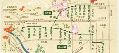【京都】。私房景點~嵐電櫻花隧道