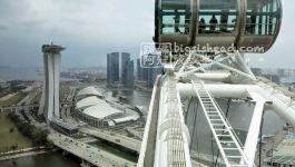 新加坡景點|新加坡摩天觀景輪(SINGAPORE FLYER)–雨中的灰色摩天輪