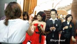 。喜喜來了。台南婚宴–懷舊鐵道風之第二次進場