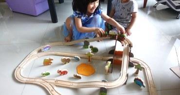 恐龍迷必備,超高質感木玩-英國Bigjigs Toys侏羅紀恐龍火車軌道組-雙重循環組合