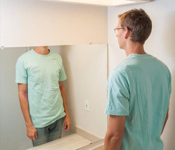 Utiliser un miroir dans certaines salles de bain:
