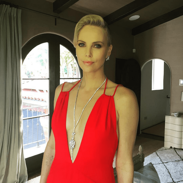 Charlize Theron thanked her glam squad.