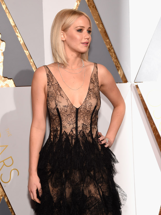 But not this year. This year, J. Law showed up, decided to bypass all that tripping, and slayed.