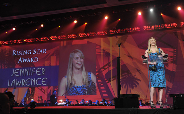 """Jennifer Lawrence wasn't tripping up...she was just a """"rising star."""""""