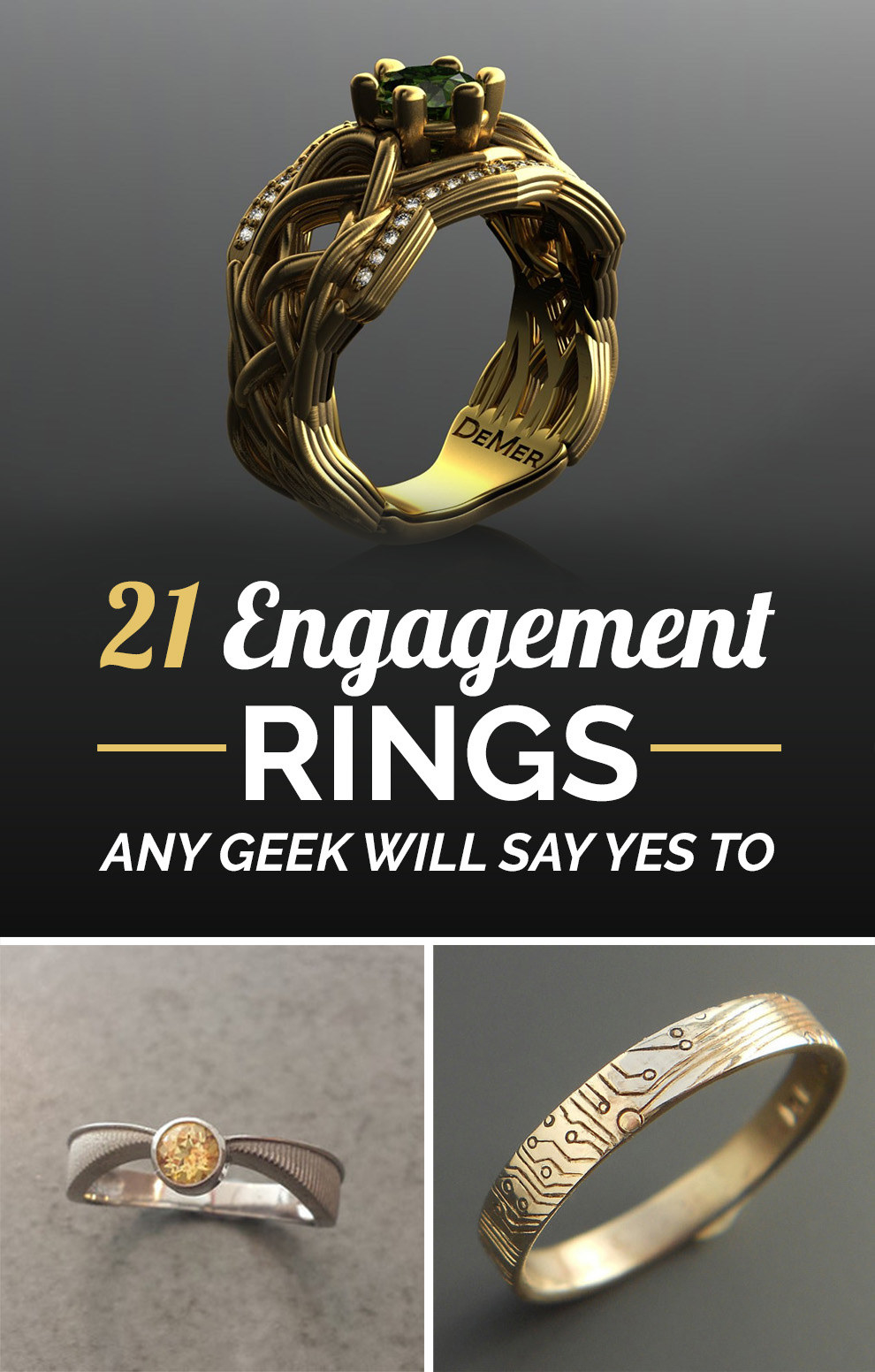 geeky engagement rings wonder woman wedding ring Share On facebook Share