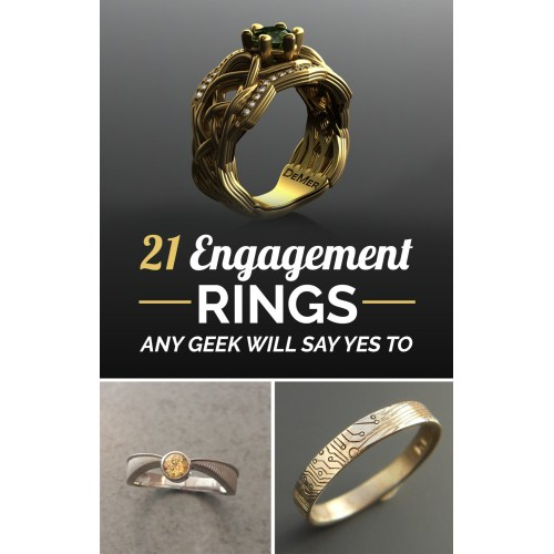 Medium Crop Of Nerdy Engagement Rings