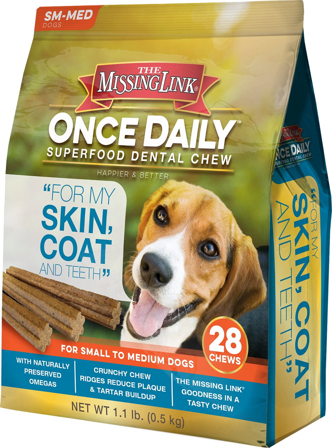 Especial Dogs My Skin Coat Dental Dog Chew Dental Chews Dogs Safe Allergies Dental Chews Video Missing Link Once Daily bark post Dental Chews For Dogs