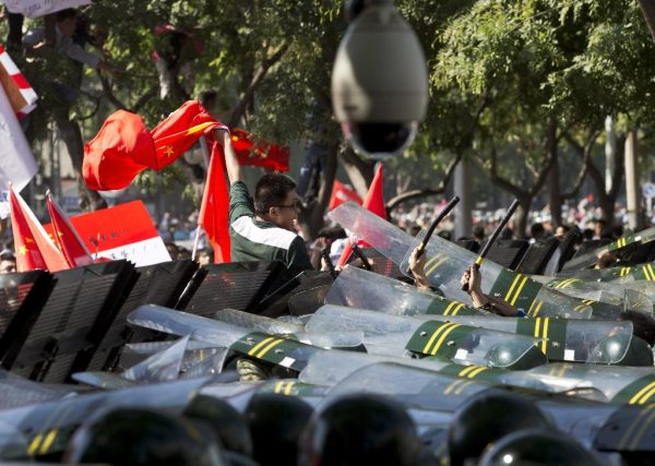 Chinese protesters.