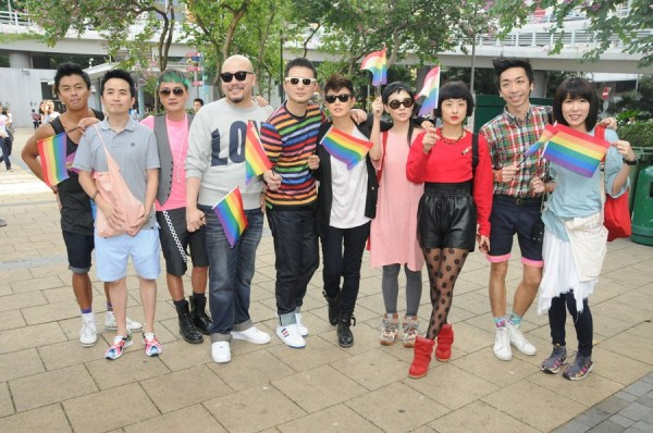 Hong Kong stars in the Chater Park Gay Rights parade.