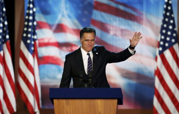Republican candidate Mitt Romney loses 2012 United States Presidential Election to Democratic incumbant Barack Obama.