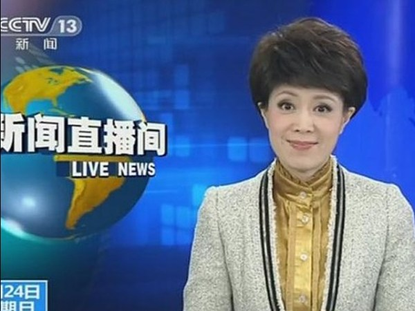 Wen Jing 'sells cuteness' on CCTV's Live News