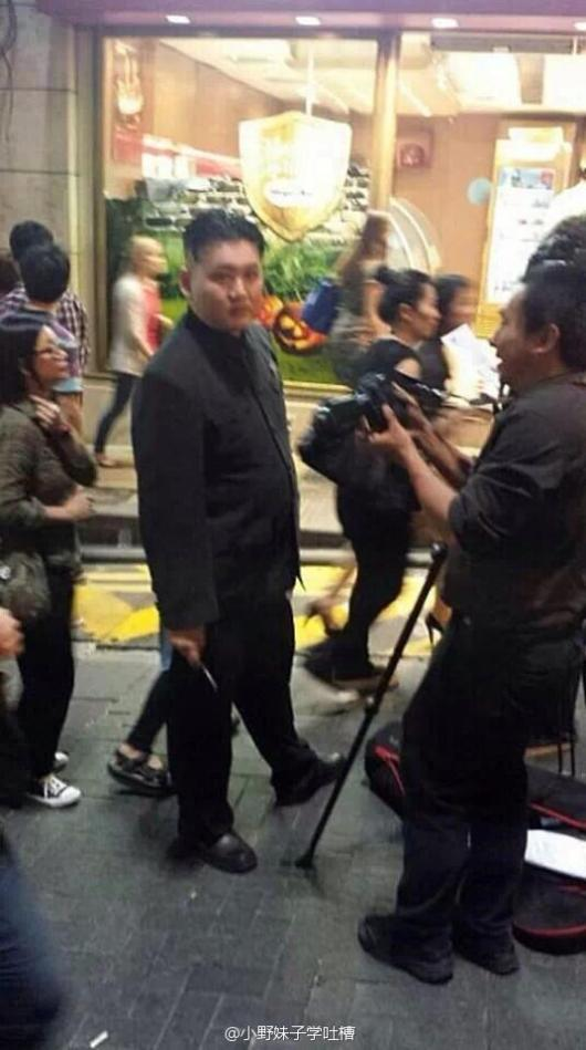 Chinese person's Kim Jong-un cosplay for Halloween.