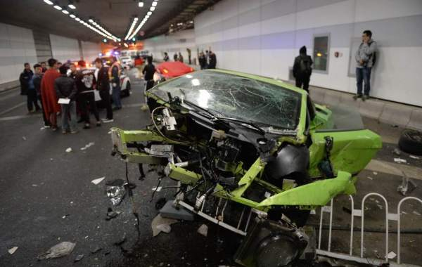 Beijing Supercar Crash- Drivers Were Racing, Detained By Police