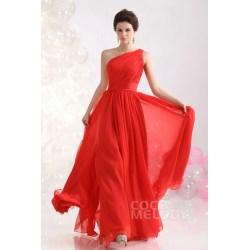 Peculiar Size Length Dresses Cheap Classic One Shoulder Length Chiffon Evening One Shoulder Length Chiffon Evening Length Dresses wedding dress Floor Length Dresses