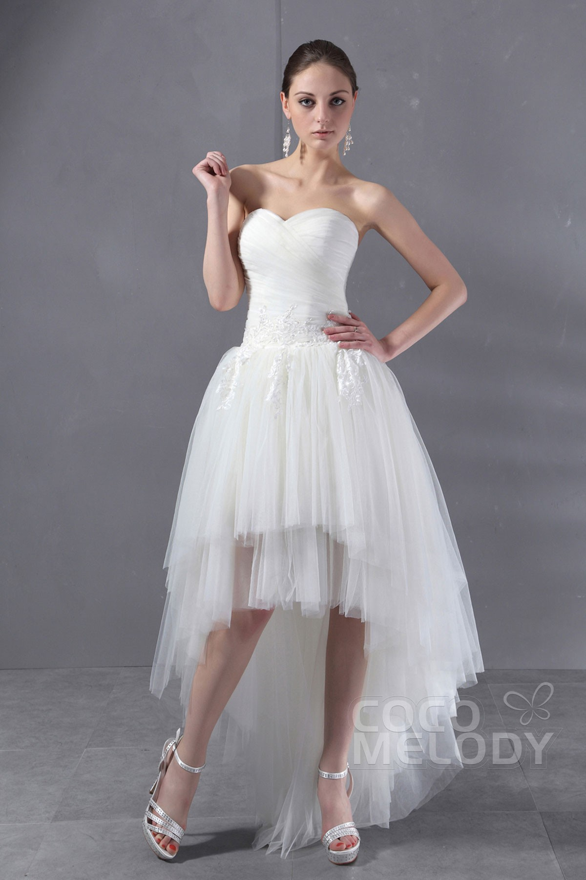 Traditional Asymmetrical Heart Tulle Wedding Dress Asymmetrical Heart Tulle Wedding Dress Tulle Wedding Dresses Sleeves Tulle Wedding Dress Sewing Patterns wedding dress Tulle Wedding Dress