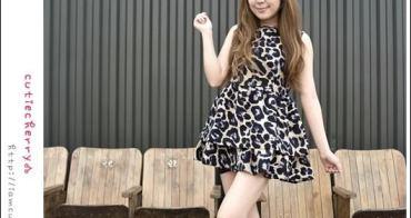 私服★正韓.不只是狂野,秋天好適合的俏皮豹紋洋裝♥