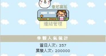 Blog瀏覽人數累積20萬