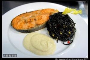 [西餐]魚類 香煎鮭魚佐青蘋果醬