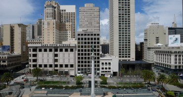 舊金山|聯合廣場 Union Square - 隱藏版拍照點、最佳景觀星巴克、周邊購物推薦