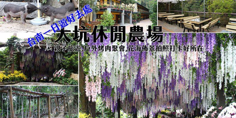台南 紫藤花海佈景拍照超美,親子出遊踏青台南一日遊好去處 台南市新化區 大坑休閒農場