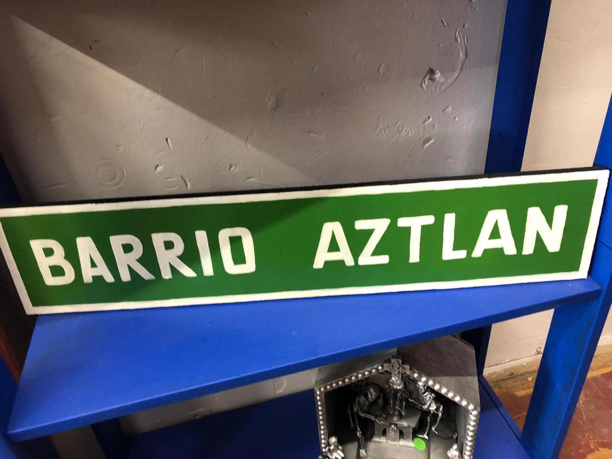 Barrio Aztlan Wood Sign...