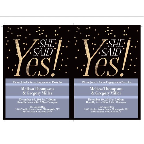 Medium Crop Of Engagement Party Invitations