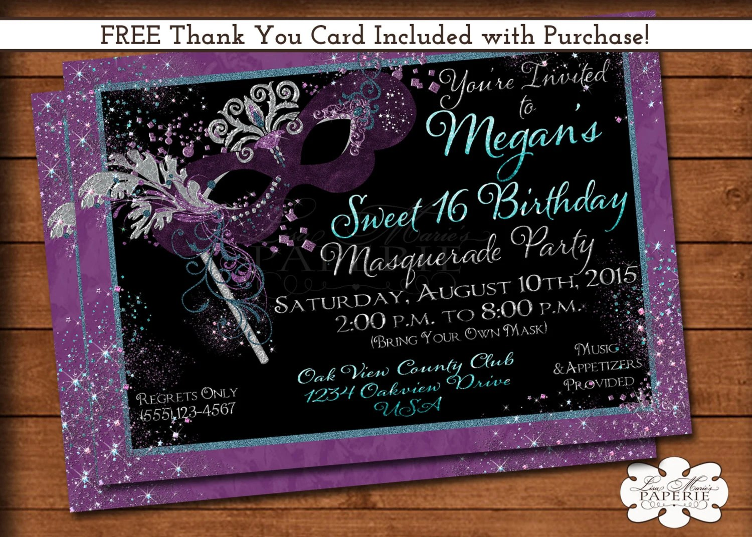 Fullsize Of Sweet 16 Invitations