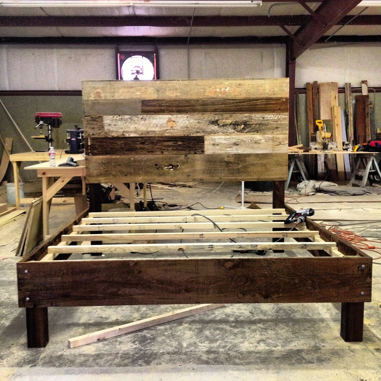 Reclaimed Wood Bed Barnwood