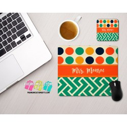 Imposing Personalized Mouse Pad Coaster Set Custom Designed Desk Set Mouse Pad Teacher Gift Custom Coaster Custom Mousepad Personalized Mouse Pad Coaster Set Custom Designed Desk Set