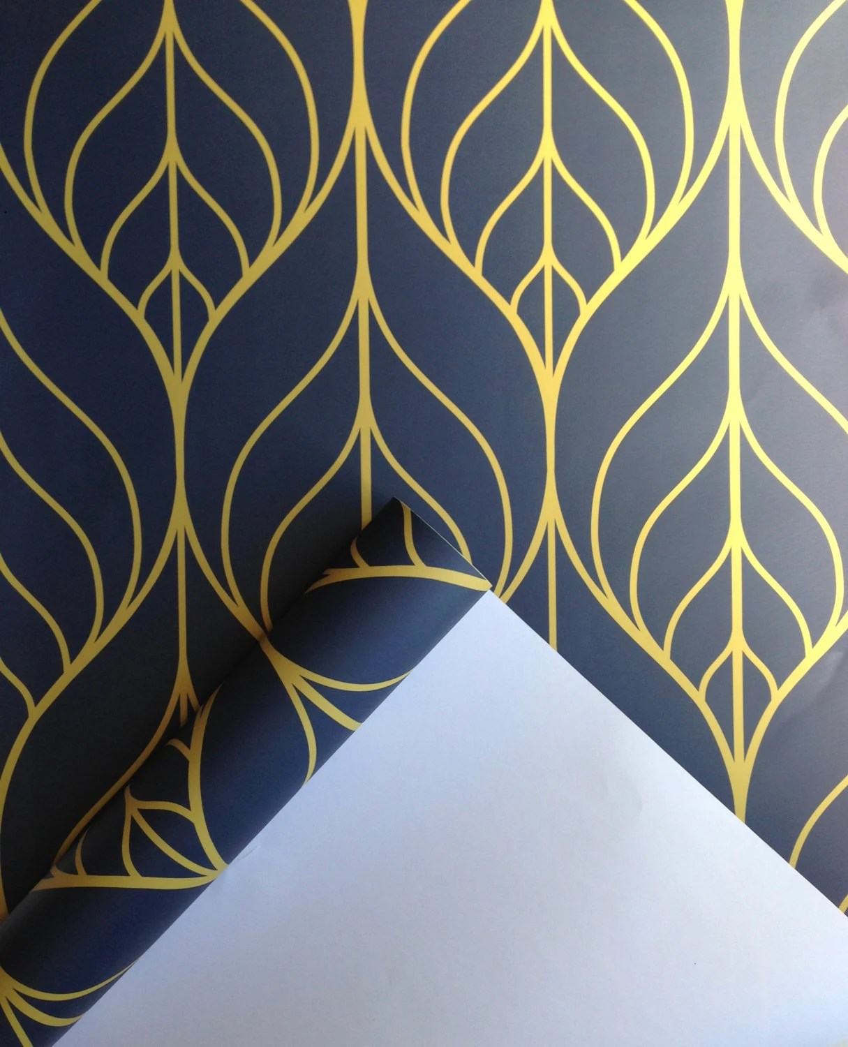 Removable Wallpaper Leaf wallpaper wallpaper Peel and stick