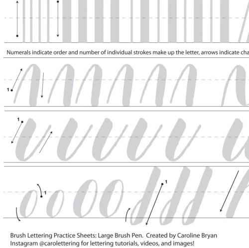 Picture Brush Lettering Practice Sheets Large Brush Hand Lettering Calligraphy Practice Sheets Brush Lettering Practice Sheets Large Brush Hand Lettering