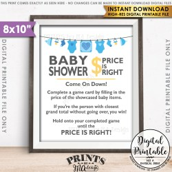 Robust Price Is Right Baby Shower Game Guess Prices Price Blue Shower Printable Instant Download Price Is Right Baby Shower Game Guess Prices Activity