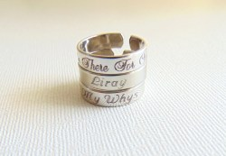 Peculiar Shipping Custom Name Ring Stackable Engraved Ring Adjustable Mor Ring Name Engraved Ring Red Sign Name Engraved Ring Scholar Sin