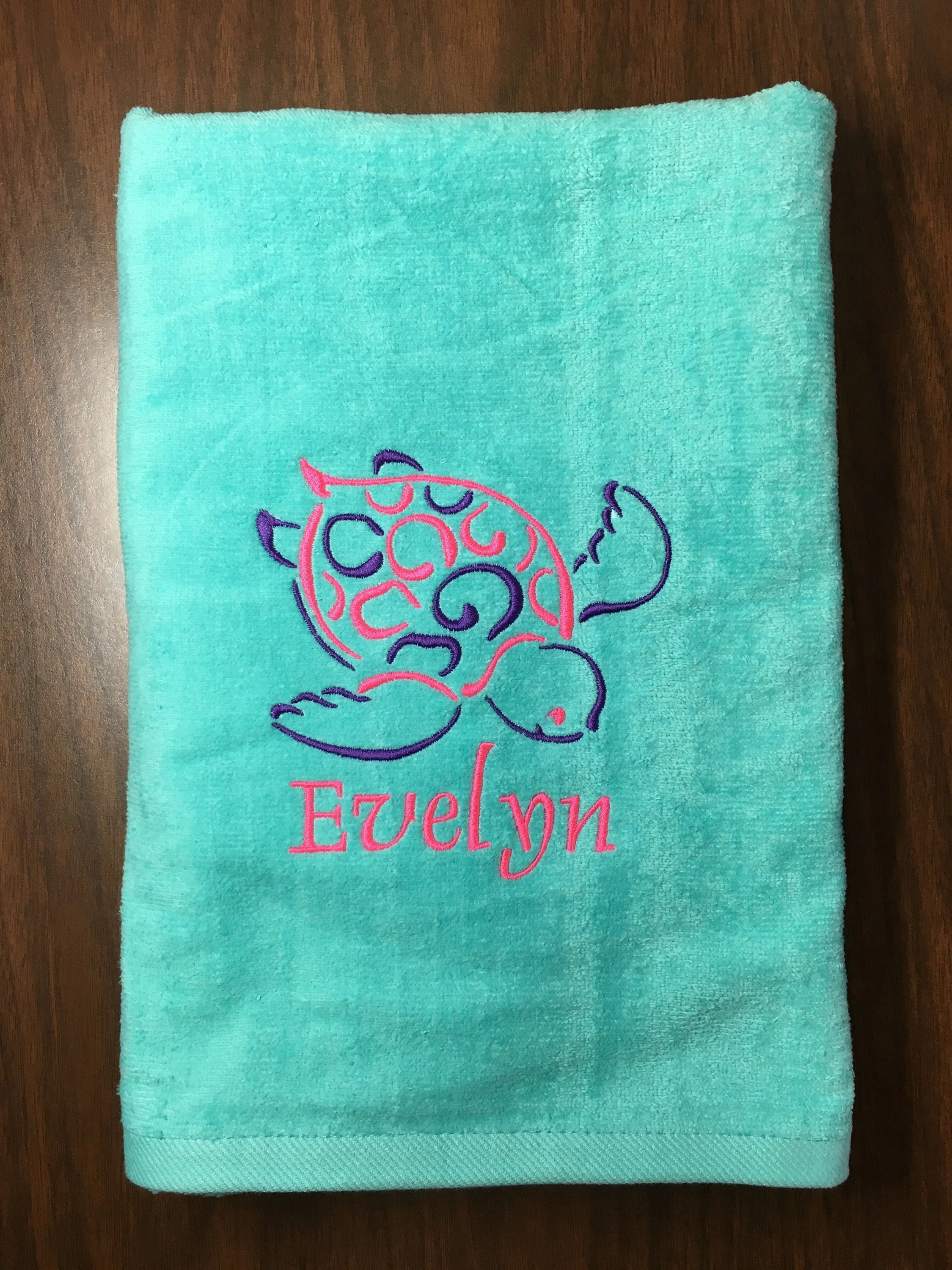 Teal Beach Personalized Beach Towels Wedding Gift Personalized Beach Towels Beach X Aqua Personalized Beach Towels Babies Kids Kids Aqua Personalized Beach Towels inspiration Personalized Beach Towels