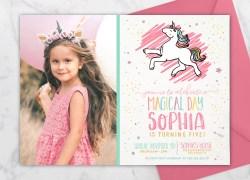 Small Of Unicorn Birthday Invitations
