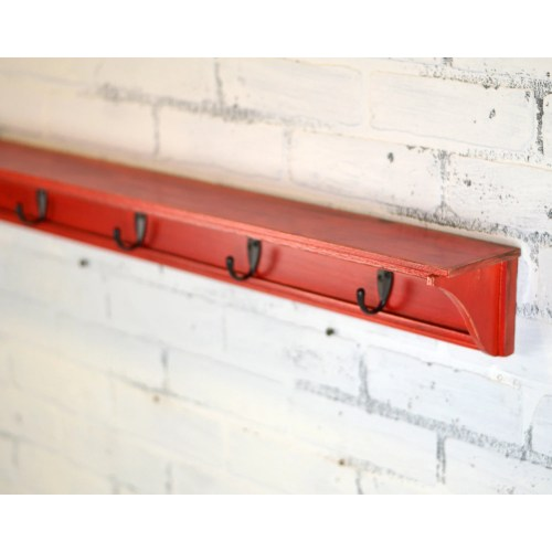 Medium Crop Of Long Wall Shelf With Hooks