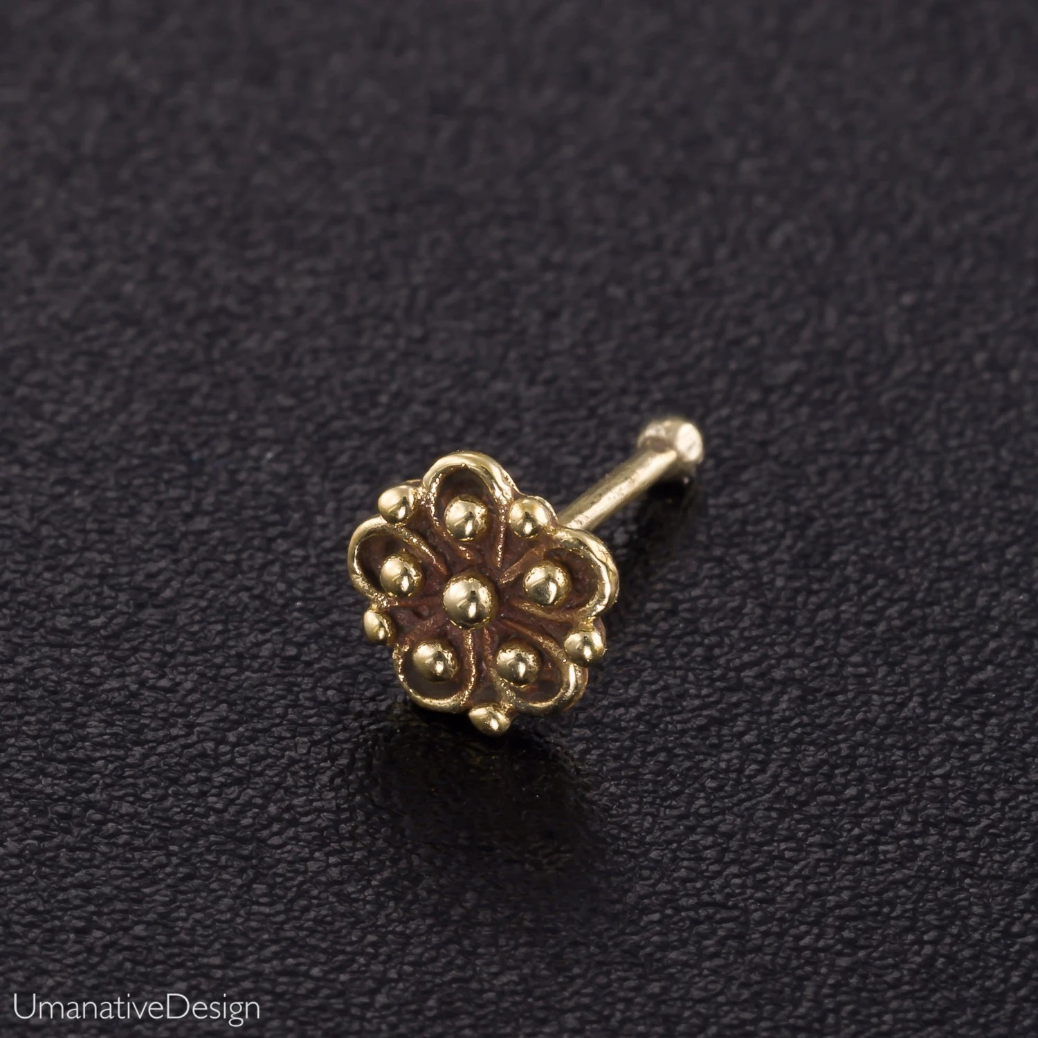 Flower Nose Stud Nose Piercing Nose Jewelry Nose Stud Gold