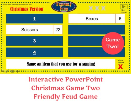 Medium Of Christmas Family Feud