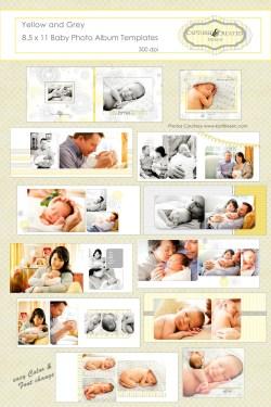 Plush Grey X Baby Photo Baby Yellow Grey X Baby Photo Templates Baby Photo Album Baby Yellow Twins Baby Photo Album Personalized