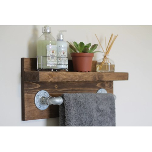 Medium Crop Of Industrial Bathroom Shelf