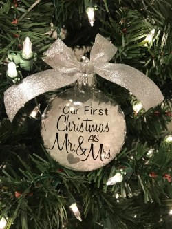 Serene Our As Glass Ornament Freepersonalization Glass Ornament Wedding Ornament Personalized Ornament Our As Glass Ornament Free