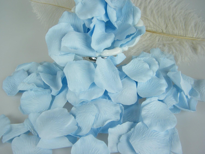 500 Light Blue Flower Petals Powder Blue Pastel Blue Baby