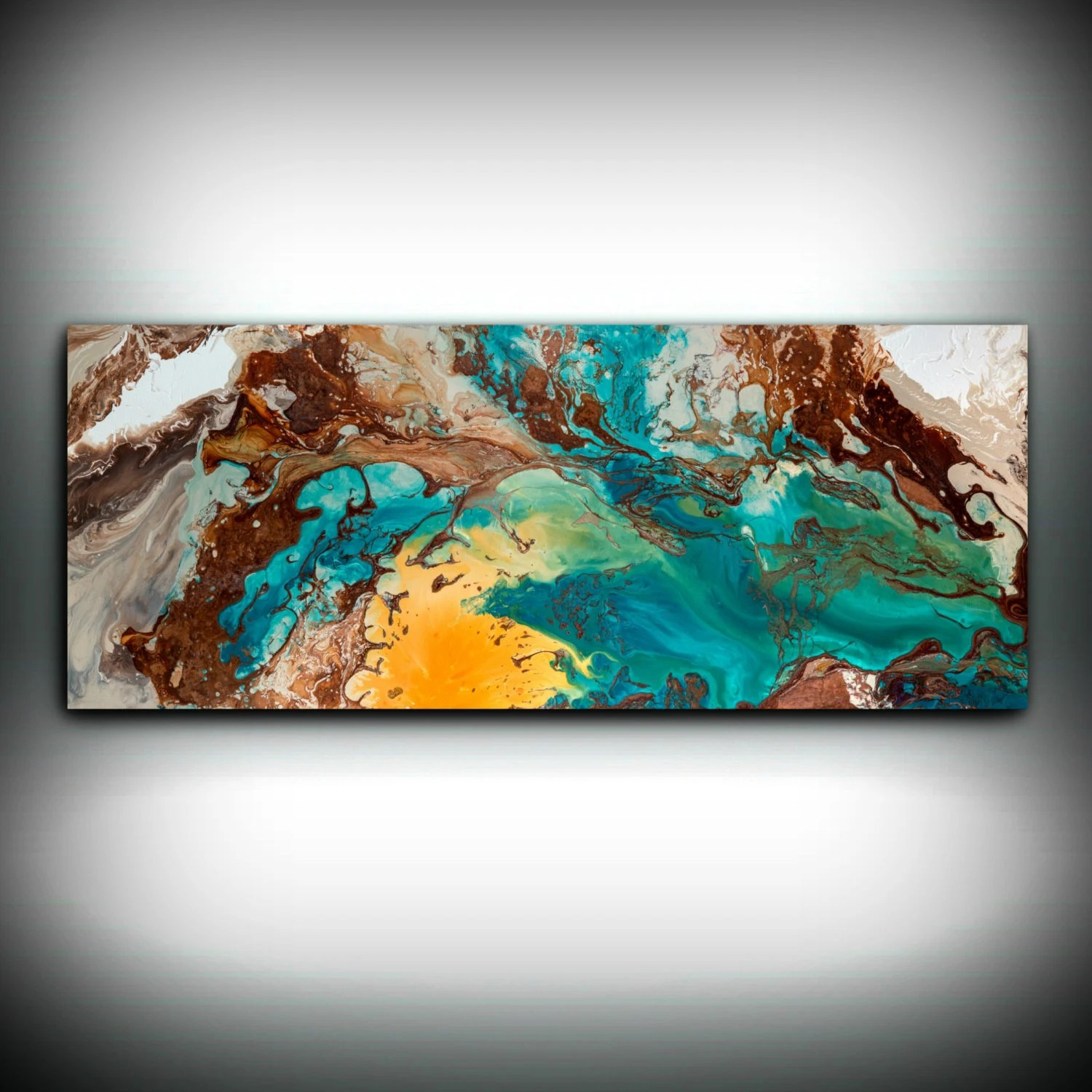 Awesome Canvas Wall Decor Large Abstract Wall Art Print Blue Brown Art To Oversized Wall Copper Painting By L Dawning Scott Canvas Wall Decor Large Abstract Wall Art Print Blue Brown art Abstract Wall Art