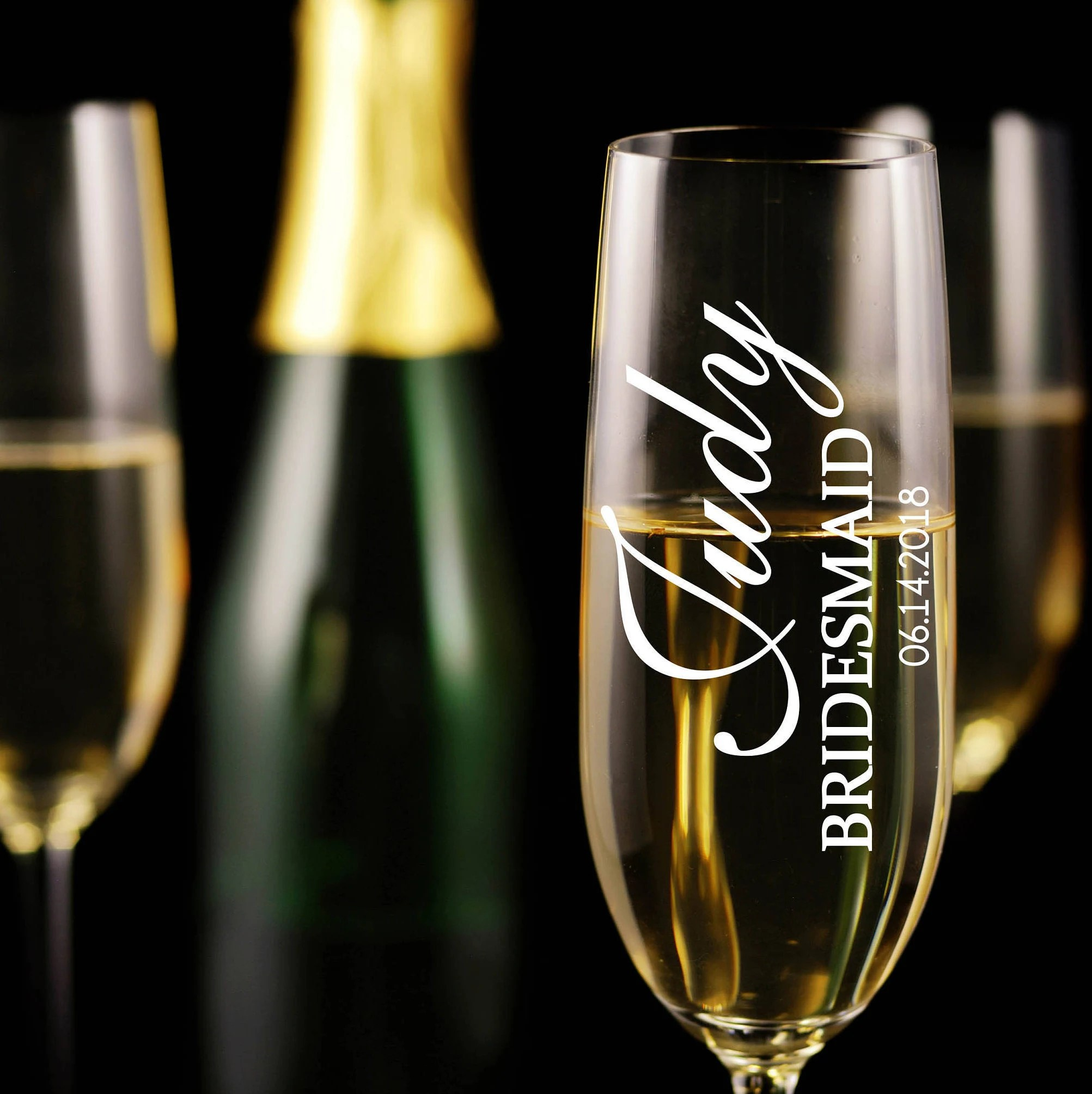 Peculiar Personalized Champagne Flutes Bridesmaid Gifts Custom Champagne Personalized Champagne Flutes Bridesmaid Gifts Custom Champagne Glassescustom Engraved Wedding Glasses Toasting Flutes Set inspiration Personalized Champagne Flutes