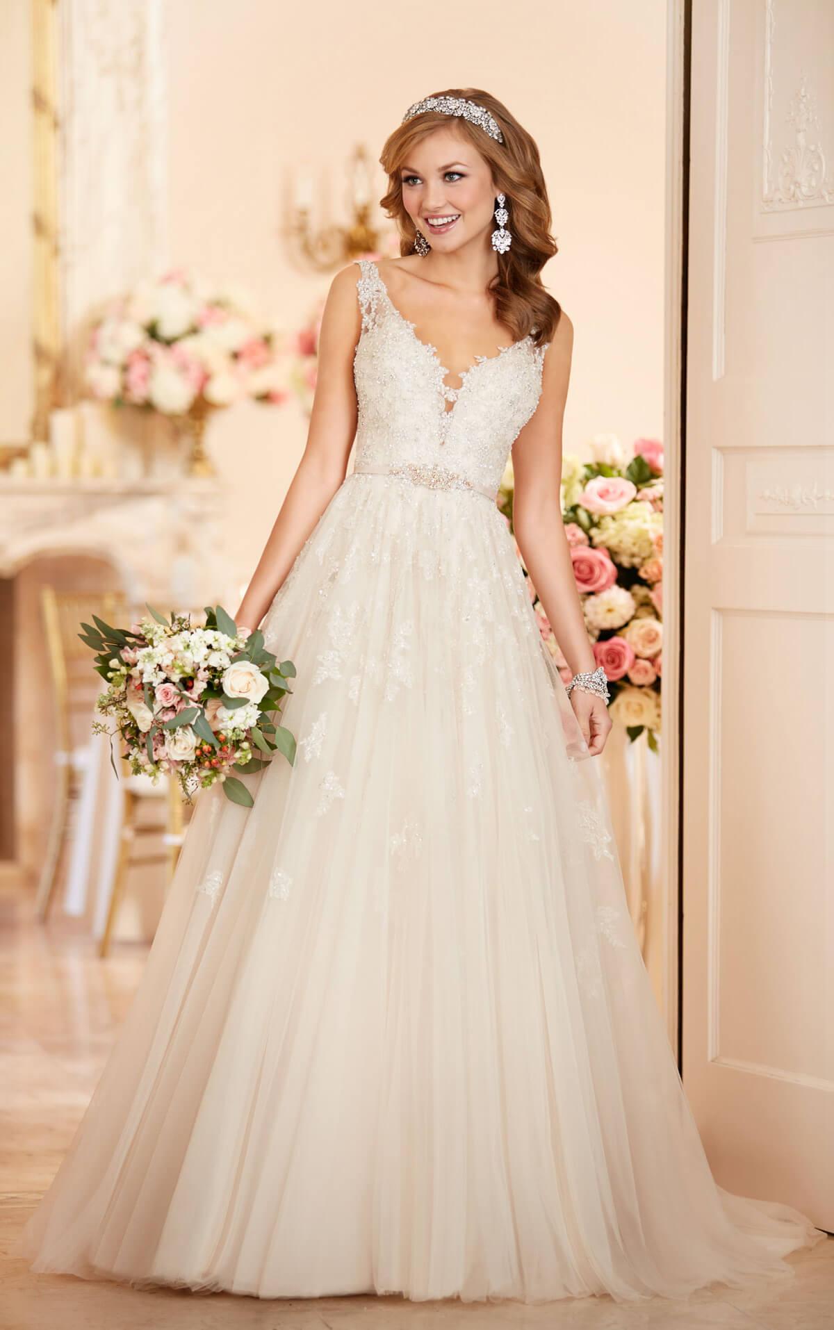wedding dresses aline lace aline wedding dress Tulle A Line Wedding Dress