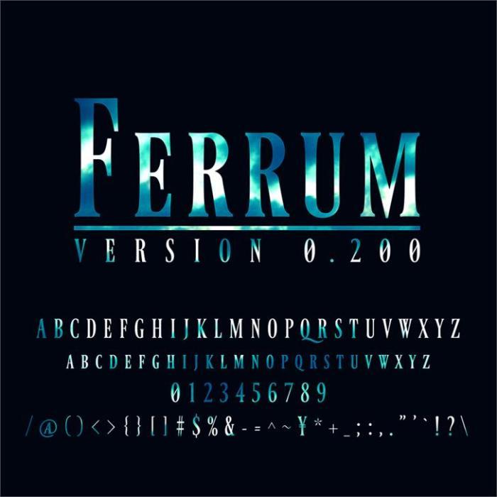 Ferrum Font Download